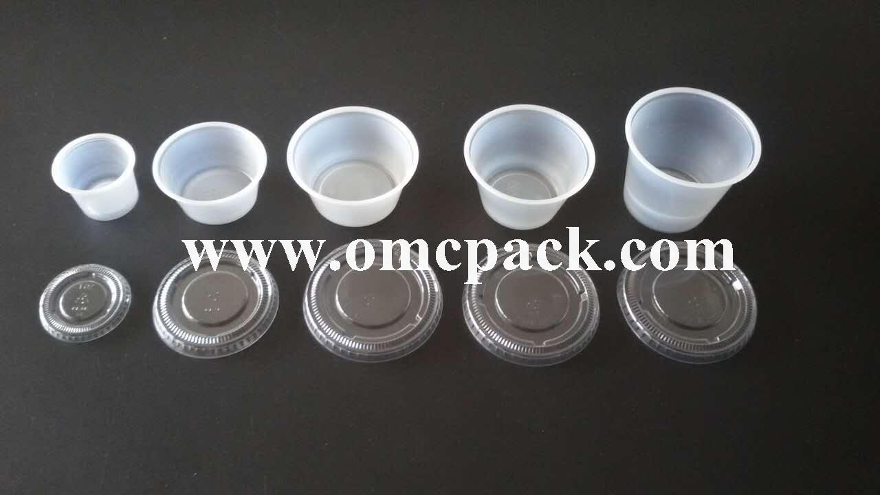 1oz 2oz 3.25oz 4oz 5oz ps sauce container with pet lid