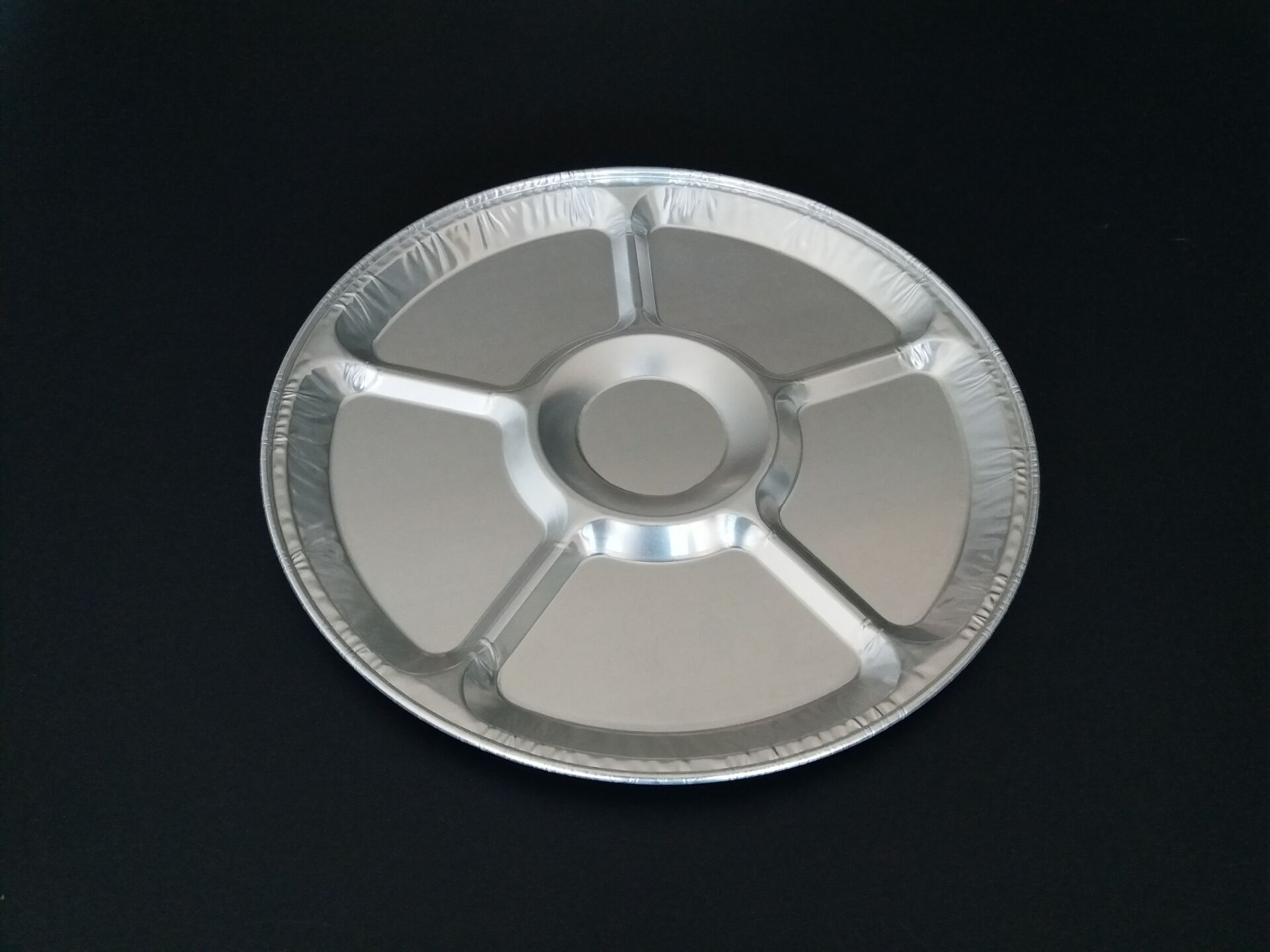 12inch round aluminum serving tray