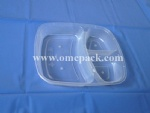 PP food container with three compartments