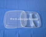 MC3 PP food container with three compartments
