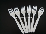 Disposable plastic fork for takeaway food
