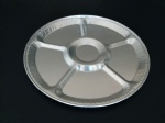 16inch round aluminum serving tray