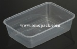 M650 PP rectangular food container 650ml