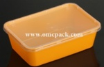 M750 PP takeaway container with lid 750ml