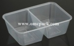 M750TC PP container with two compartments 750ml