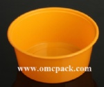 M12 Plastic round food container 12oz
