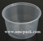 M-16 PP clear round food container 16oz